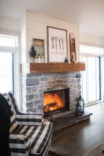 open fireplace: interior home